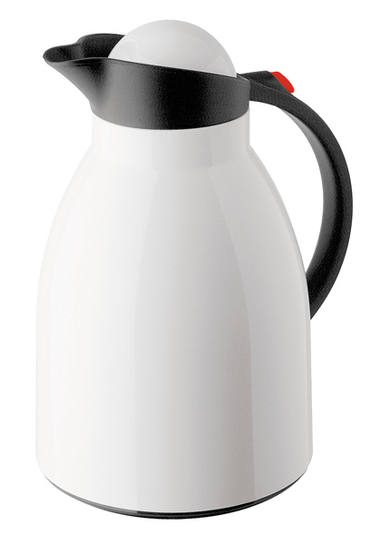 Vacuum jug Hawaii Push, white / black